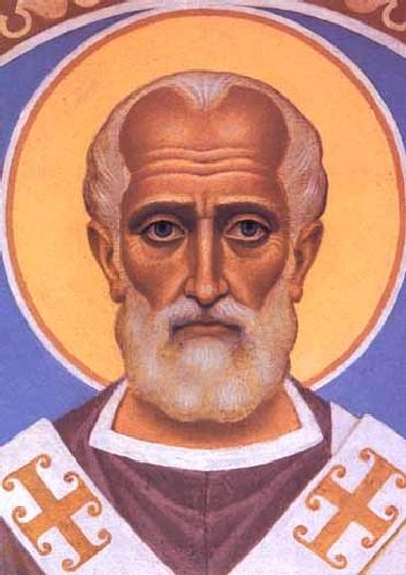 """Николай Чудотворец, православие, икона, святитель, святой.  Оригинал схемы вышивки  """"Николай Чудотворец """" ."""